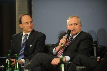 Dennis J. Snower (IfW, links) und Christoph M. Schmidt (RWI, rechts)