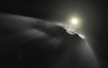 Bild: CC BY 2.0 / Hubble ESA / Artist's impression of the interstellar asteroid `Oumuamua