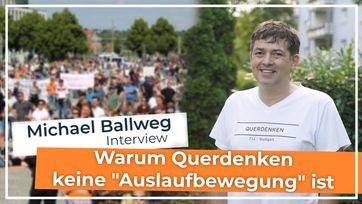"""Bild: Screenshot Video: """" Interview mit Michael Ballweg: Warum Querdenken keine """"Auslaufbewegung"""" ist"""" (www.kla.tv/19295) / Eigenes Werk"""