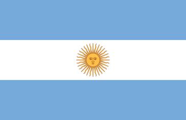 Flagge von Argentinien