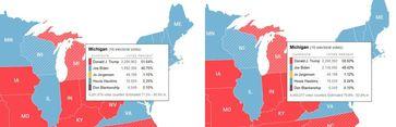 Warum erhält Joe Biden 100% aller neu ausgewählten Stimmen und 4 weitere Kandidaten 0,00%?