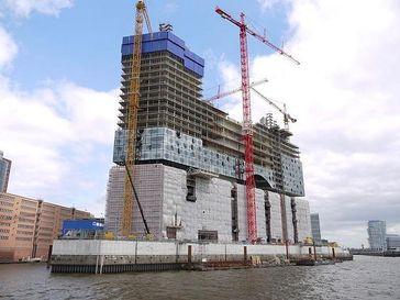 Baufortschritt, Mai 2010 Wasserseite. Bild: de.wikipedia.org/wiki