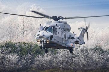 """Der NH90 """"Sea Lion"""" bei der Landung. Bild: Bundeswehr"""