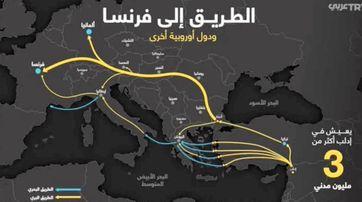 Schlepperrouten aus Syrien nach Deutschland und Frankreich (Symbolbild)