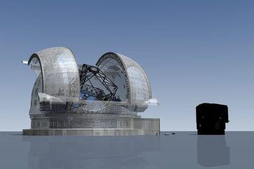Vergleich einer Studie zum 39-m-E-ELT mit einem Unit Telescope des Paranal-Observatoriums mit 8,2 m Spiegel-Durchmesser