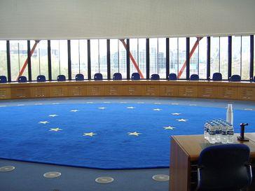 Der Kleine Gerichtssaal des EGMR – vormalig Sitzungssaal der Kommission
