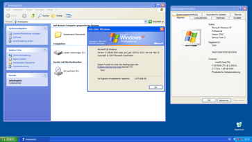 Windows XP-Desktop (Service Pack 3) Bild: ernard Ladenthin - wikipedia.org