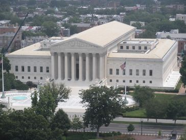 Supreme Court Building in Washington, D.C., 1935 unter dem Architekten Cass Gilbert errichtet