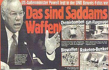Hochrangige US-Amerikaner erfanden das Märchen von Massenvernichtungswaffen im Irak. Die Bilanz bis heute: weit über 1 Million Tote und ein Irak und gute geschäfte für Großkonzerne (Symbolbild)
