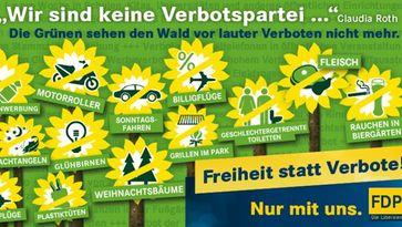 Bündnis 90 / Die Grünen: Kaum eine Partei auf dieser Welt versucht Menschen stärker in ihren Freiheiten einzuschränken als sie. (Symbolbild)