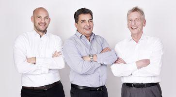 vlnr.: Dr. Sebastian Heinz, Dr. Thomas Lützenrath und Prof. Dr. Günther Hambitzer (2020)