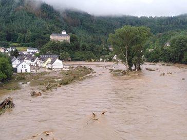 Hochwasser in Altenahr-Kreuzberg am 15. Juli 2021
