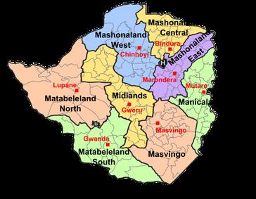 Provinzen in Simbabwe
