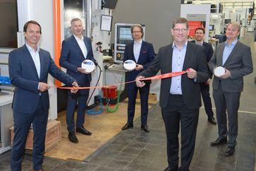 """Eröffnung des 5G-Industry Campus Europe.  Bild: """"obs/Ericsson GmbH/Guido Flüchter"""""""