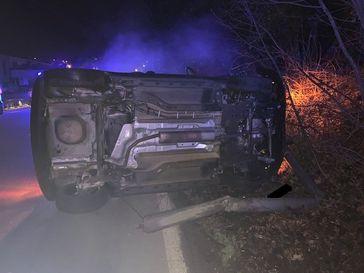 Verunfalltes Fahrzeug B39 Bild: Polizei