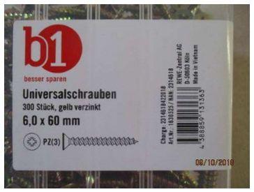 """Rückruf Universalschraube / Bild: """"obs/toom Baumarkt GmbH"""""""