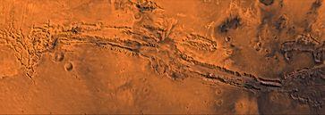 Valles Marineris - Panoramaaufnahme der 4000 km langen Mariner-Täler