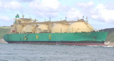 Gastanker LNG Rivers (Symbolbild)