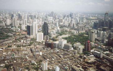 Bangkok: Blick über die Stadt