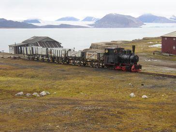 Alte Eisenbahn in Ny-Ålesund