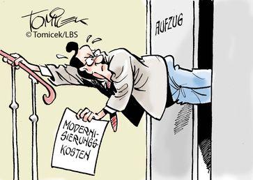 """Mieter durften in fünfstöckigem Haus an den Kosten beteiligt werdenPrinzipiell wird wohl kaum jemand etwas dagegen haben, wenn in das von ihm bewohnte Mietshaus ein Aufzug eingebaut wird. Bild: """"obs/Bundesgeschäftsstelle Landesbausparkassen (LBS)/Bundesgeschäftsstelle LBS"""""""