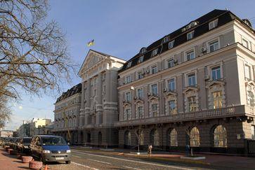 Hauptquartier des SBU im 1913 bis 1923 im Renaissance-Stil mit Elementen des Klassizismus erbauten Haus Semstwa auf der Wolodymyrska-Straße Nr. 33 in Kiew