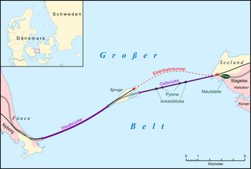 Die Insel Sprogø als Zwischenstation der Großer-Belt-Querung