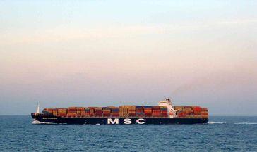 Containerschiff MSC Flaminia (gechartert)