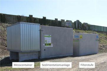 Die Versuchsanlage an der A 485 Quelle: THM, Gießen (idw)