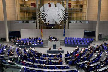 Plenarsaal im Deutschen Bundestag.
