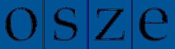 Logo: Die Organisation für Sicherheit und Zusammenarbeit in Europa (OSZE) ist eine verstetigte Staatenkonferenz zur Friedenssicherung.