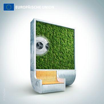 """Der Stadtbaum (CityTree) / Bild: """"obs/Europäische Kommission"""""""