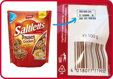 "Produktrückruf Saltletts PausenCracker  Bild: ""obs/The Lorenz Bahlsen Snack-World GmbH & Co KG Germany/Lorenz Snack-World"""