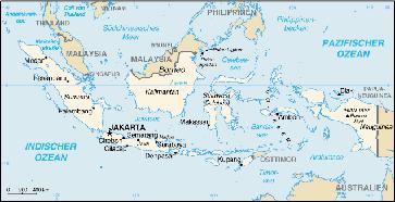 Karte von Indonesien aus CIA World Fact Book