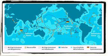 Tiefseebergbau im pazifischen Ozeon im Gebiet des einst ungergegangenen Lemurien
