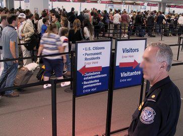 Grenzkontrolle in den VSA/USA