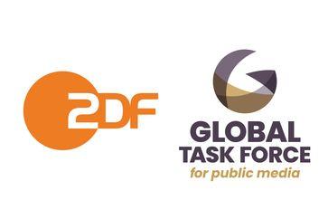 "ZDF-Senderlogo und Logo Global Task Force /  Bild: ""obs/ZDF"""