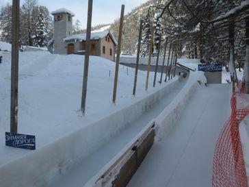 Natureis-Bobbahn von St. Moritz
