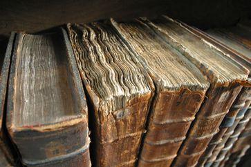 Alte Bücher in der Bibliothek des Merton College (Symbolbild)