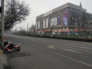 Coronavirus: Leere Straße am 27. Januar im Bezirk Xicheng von Peking