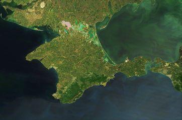 Satellitenbild der Halbinsel Krim