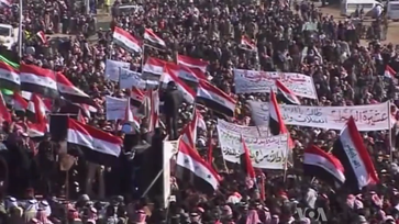 ISIS: 2012–14 Iraqi protests: Iraqi Sunni demonstrators protesting against the Shia-led government.