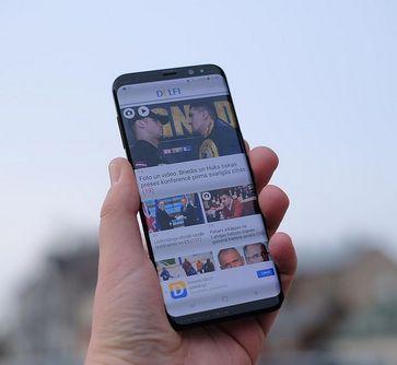 Samsung Galaxy S8 Bild: Kārlis Dambrāns, on Flickr CC BY-SA 2.0