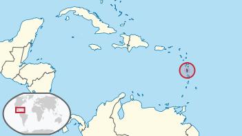 Der Staat Dominica in der Karibik