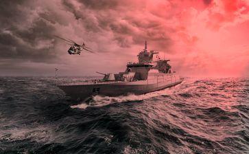 Eine deutsche Fregatte (Symbolbild)