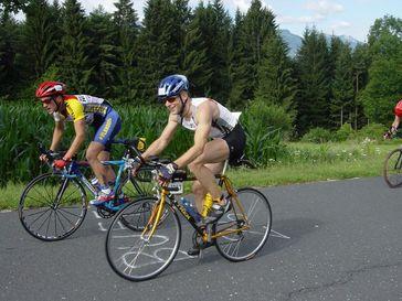 Ernährungswissenschafter Oliver Neubauer bei einem Ironman-Wettkampf. Quelle: (Foto privat) (idw)