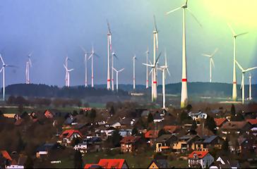 Windkraftanlagen, Windkrafträder oder kurz WKA (Symbolbild)