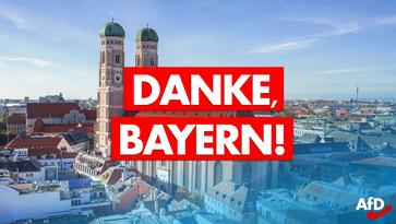 Vielen Dank Bayern – AfD kann Sitze bei Kommunalwahl massiv steigern.