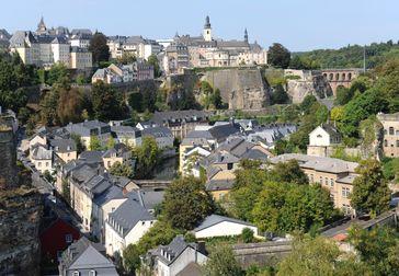 Blick auf den Stadtteil Luxembourg Grund