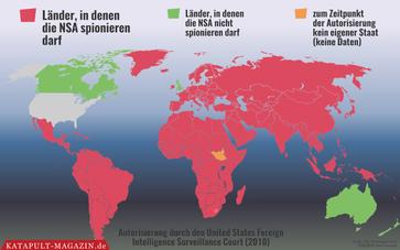 Die NSA spioniert und hackt weltweit, Stand 2010 (Symbolbild)